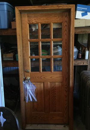 Amish solid oak door for Sale in Freeport, PA