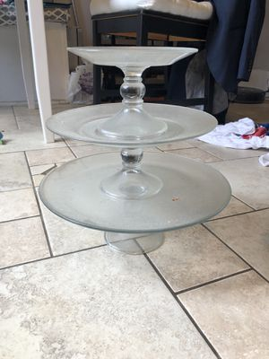 Glass cupcake stand for Sale in Washington, DC