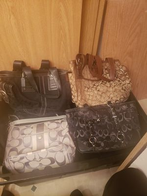 6 coach purses for Sale in Edgewood, WA