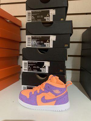 Jordan 1 mid se Orange pulse new inbox toddler for Sale in Norwalk, CA