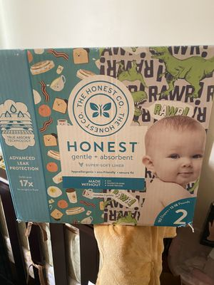 Honest diapers size 2. Brand new never opened for Sale in Hillcrest Heights, MD