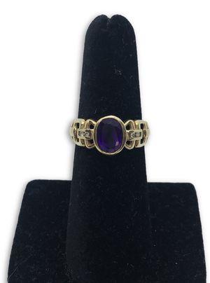 14k amethyst/diamond ring for Sale in Alexandria, VA
