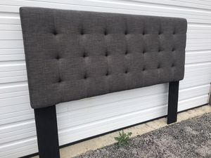 New King size headboard ONLY $140 or $195 with heavy duty metal bed frame for Sale in Columbus, OH