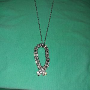 17 Inches Sparkling Pendent Silver Necklace. for Sale in Dallas, TX