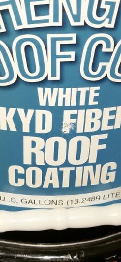 Roof Coating White Alkyd Fiber for Sale in Airway Heights,  WA