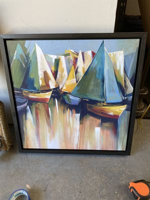 Sailboat framed canvas for Sale in Carlsbad, CA