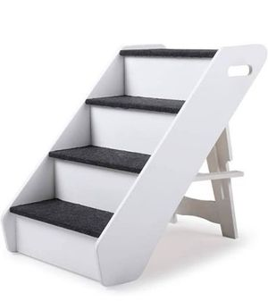 4 Steps Pet Ladder for Doggy Cat Puppy Soft Stairs Ramp LayersBlack Portable (New in box) for Sale in Chino Hills, CA
