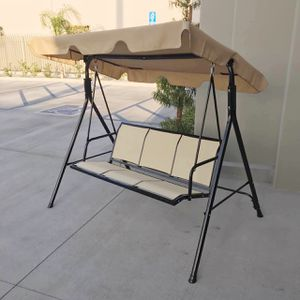New in box $90 each 528 lbs capacity porch swing bench chair with canopy sun shade sun blocker for Sale in Bell Gardens, CA