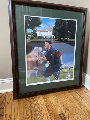 "Payne Stewart ""The Winning Putt"" Framed Art for Sale in Greensboro, NC"