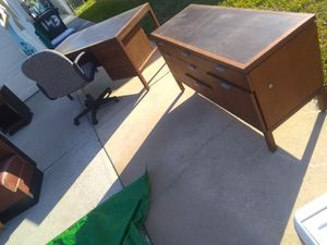 Antique desk and file cabinet for Sale in Redington Shores, FL