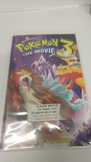 Pokemon 3 The Movie Vhs for Sale in Vallejo, CA
