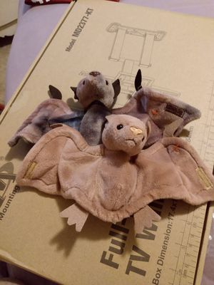 RARE RETIRED TY BEANIE BABY BATTY THE BAT VINTAGE BROWN AND TYE DYE for Sale in San Antonio, TX