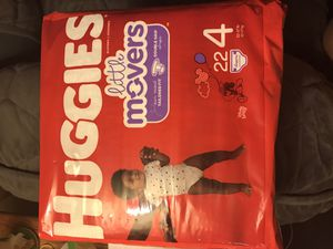 Huggies Little movers size 4 for Sale in Prospect Park, PA