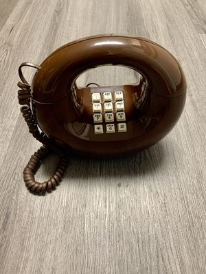 Vintage Brown Phone Western Electric 1970s Donut Circle for Sale in Lancaster, OH