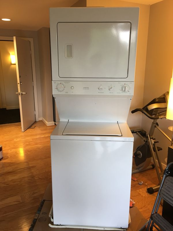 GE stacked washer/gas dryer