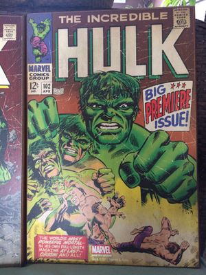 Marvel The Incredible Hulk - #102 wooden wall art poster for Sale in Lakeside, AZ