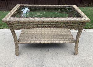 Indoor/Outdoor Wicker Coffee Table for Sale in Spartanburg, SC