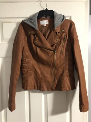 Brown faux leather jacket for Sale in Riverside, CA