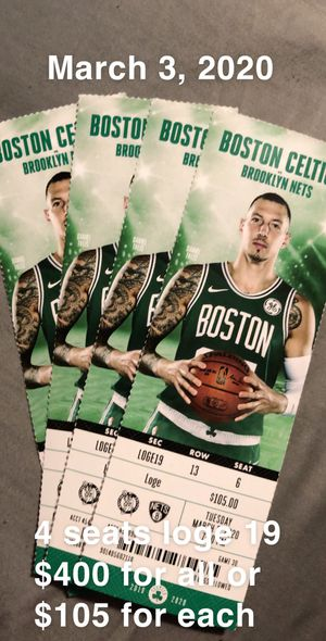 Celtics vs nets for Sale in Boston, MA