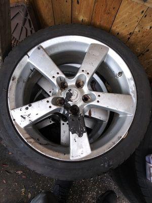 Mazda rx8 rims 18s need 1 tire for Sale in Tampa, FL