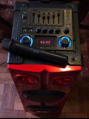 Speaker 9000W bluetooth karaoke Ecualizador micrófono inalámbrico súper bass profundo **Delivery gratis 10 millas max** for Sale in East Los Angeles, CA