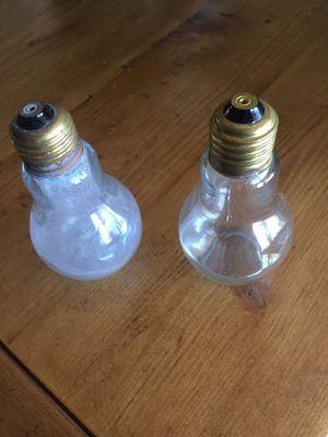 Glass lightbulb salt and pepper shaker antique for Sale in Henderson, NV