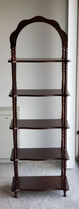Decorative wooden shelf unit for Sale in Alexandria, VA