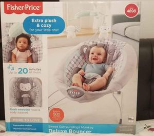 Fisher Price Deluxe Bouncer for Sale in Winter Haven, FL
