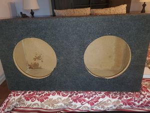 CUSTOM BUILT DUAL 12INCH VENTED SUBWOOFER BOX for Sale in The Bronx, NY
