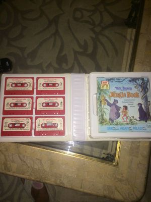 Vintage Walt Disney take a tape along 6 double cassettes with 9 books for Sale in Hillsboro, OR