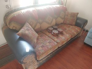 "Couch with Feet and 2 Arm Pillows ~90""x39""x36"" **READ Description/CHECK Photos** for Sale in Vista, CA"