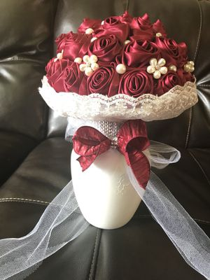 Burgundy wedding bouquet for Sale in Rockville, MD