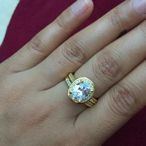 18k gold plated wedding engagement ring band set size 6,7,8 available jewelry accessory for Sale in Burtonsville, MD