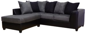 Right Hand Black and Grey Facing Sectional for Sale in San Jose, CA