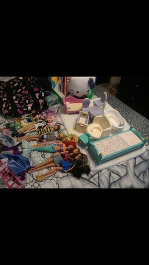 Dolls, clothes, furniture, for Sale in Winter Haven, FL