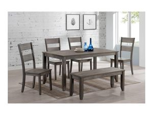 6PC Dining Table, 4 chairs and bench for Sale in Phoenix, AZ