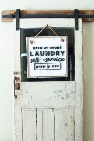 Laundry Room Farmhouse Sign: Handmade for Sale in Austin, TX