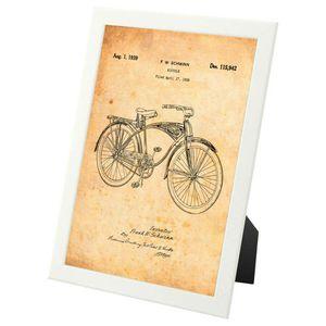 Vintage Schwinn Bicycle patent design - framed print for Sale in Fairfax, VA