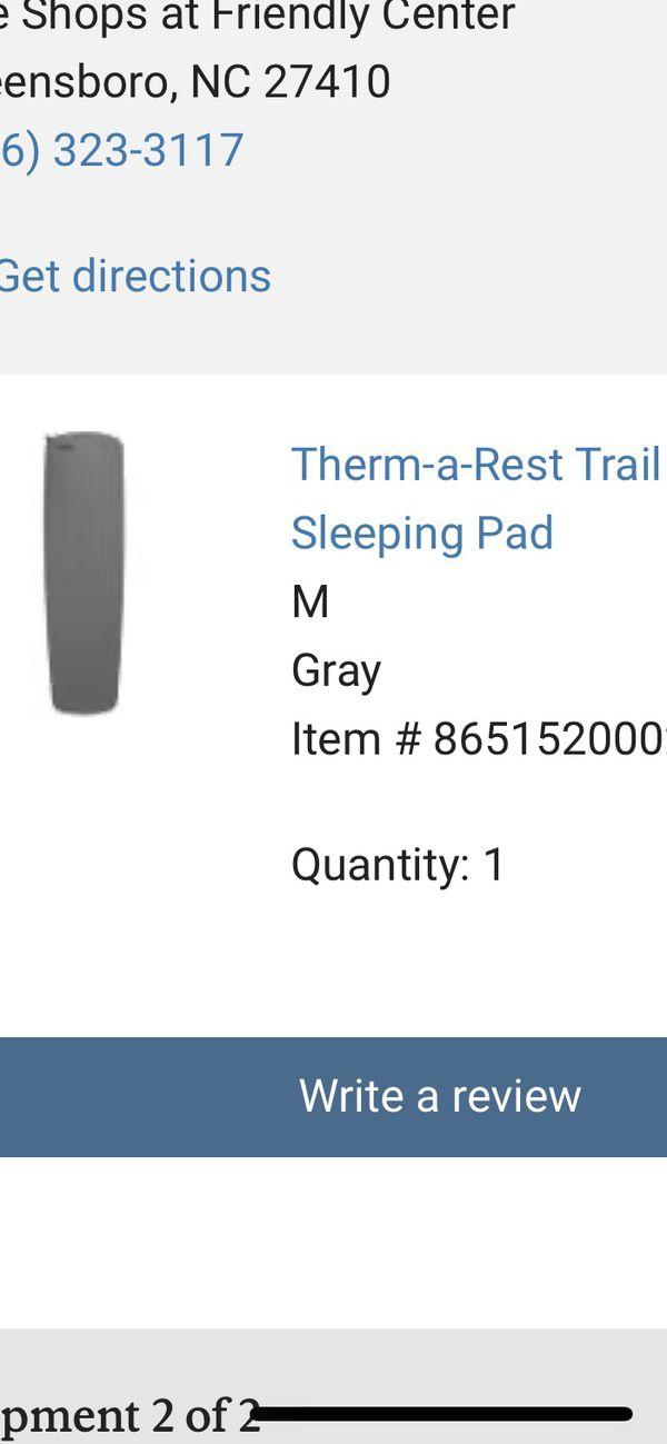 REI siesta 30 sleeping bag and pad