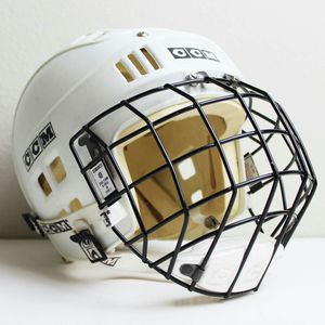 CCM Hockey Helmet - SM-15 B-FM10 Jr. Type 1 - White w/ facemask for Sale in Fairfax, VA