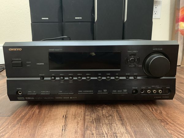 Onkyo Receiver with 7 speakers