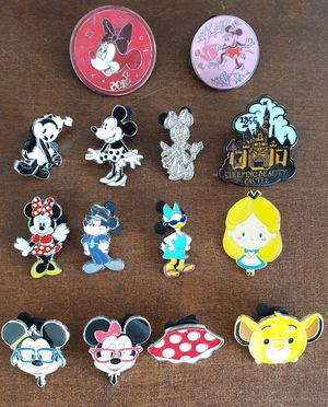 14 Disney trading pins lot set. Tradeable at all disney parks for Sale in Los Angeles, CA
