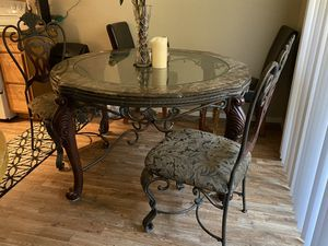Antique granite glass table (like new) for Sale in Mesa, AZ