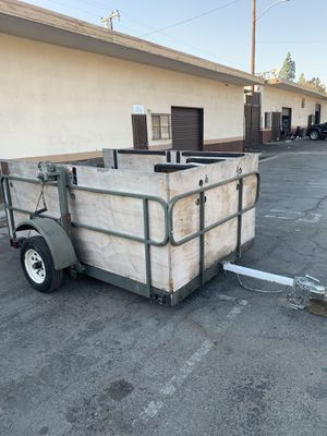 Trailer with winch door ramp for Sale in Highland, CA