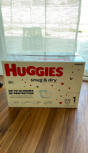 Huggies snug and dry diapers size 1 200 ct for Sale in San Jose, CA