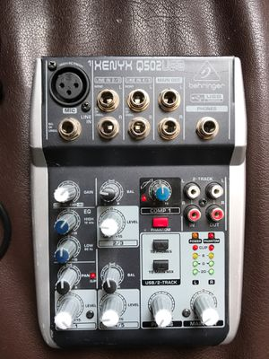 Behringer XENYX Q502 USB Mixer/Interface MIXERFACE for Sale in Los Angeles, CA