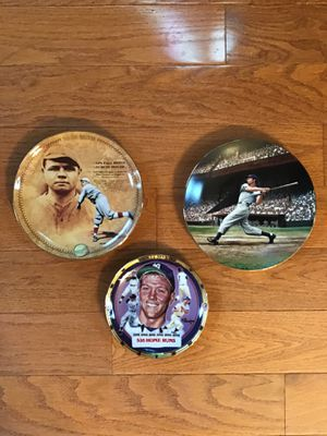 New York Yankees Commemorative Ruth, DiMaggio and Mantle Plates for Sale in Plumsted Township, NJ