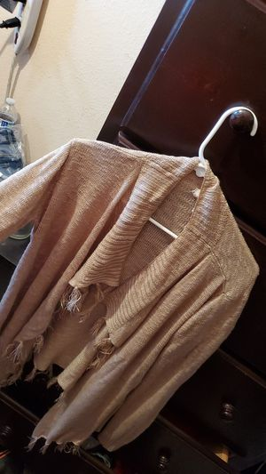 Women's Cardigan Size L with fringe for Sale in Anaheim, CA