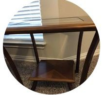 2 square end tables - wood/glass for Sale in Plano, TX