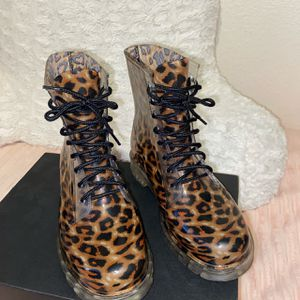 Madden Girl Clear Leopard Rain Boots for Sale in San Diego, CA